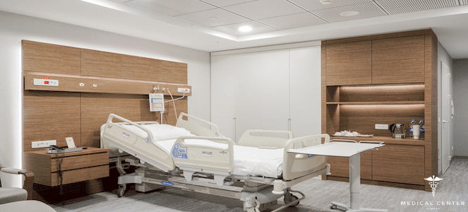 american hospital room